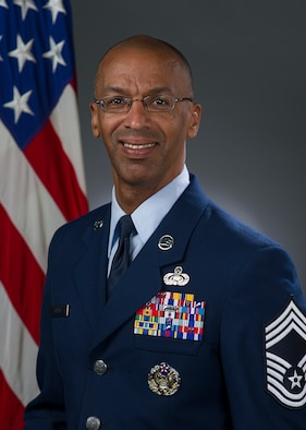 Chief Master Sgt. Leslie Gould, 60th Communications Squadron superintendent, Official photo