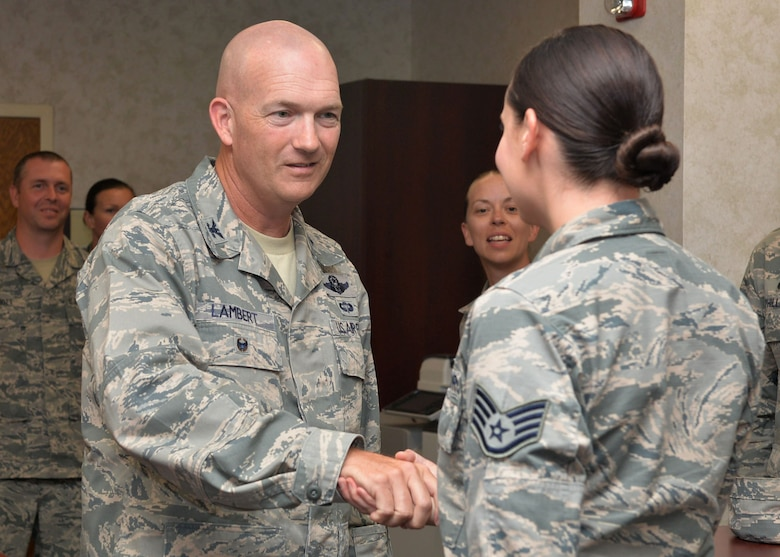 Staff Sgt. Rachel Smith, 19th Maintenance Group recourse advisor, is nominated for the Combat Airlifter of the Week Sept. 25, 2017 at Little Rock Air Force Base, Ark. Smith tracks and schedules training.