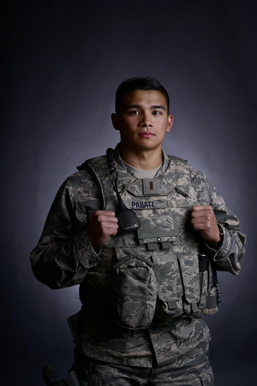 U.S. Air Force 2nd Lt. Robert Parati, 355th Security Forces Squadron flight commander, poses for a photo at Davis-Monthan Air Force Base, Ariz., June 14, 2017. Parati was a prior enlisted Airmen who applied to the Air Force Academy and commissioned through their program as a second lieutenant. (U.S. Air Force photo by Senior Airman Ashley N. Steffen)