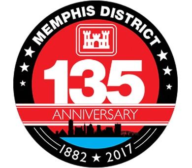 Memphis District's 135th Anniversary Logo