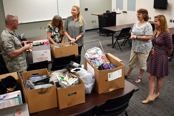 655th ISRG continues to donate supplies to local schools
