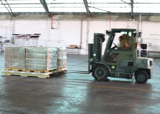 Savannah Airmen moving relief supplies around the clock