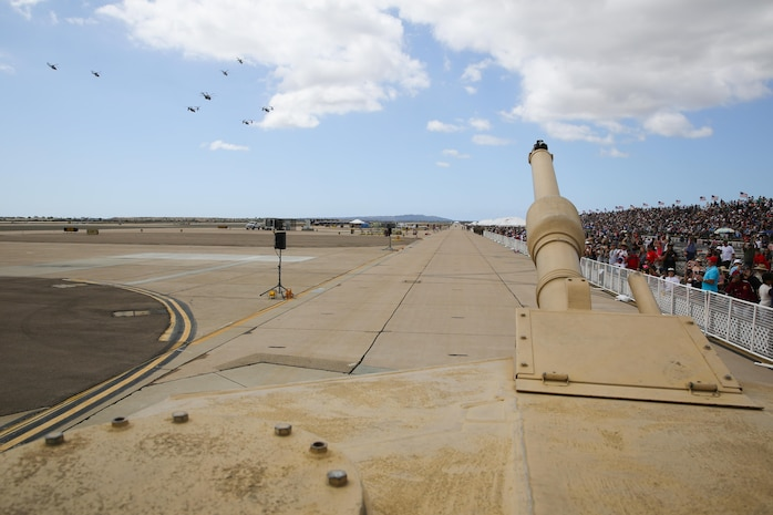 During the Marine air-ground task force demonstration at the 2017 Marine Corps Air Station Miramar Air Show at MCAS Miramar, Calif., aviation and division assets showcased their capabilities for the crowds, Sept. 23.