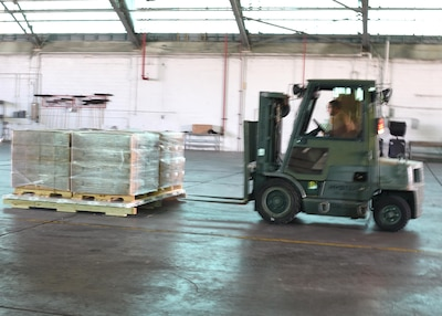 Savannah Airmen moving relief supplies around the clock