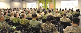 Fort Riley hosted 119 international officers from 91 countries Sept. 6 for the Command and General Staff Officer Course international student tour. During the final leg of the tour, the international officers had a briefing within the Mission Training Center where they learned about integrated training environments. CGSOC is held out of Fort Leavenworth.
