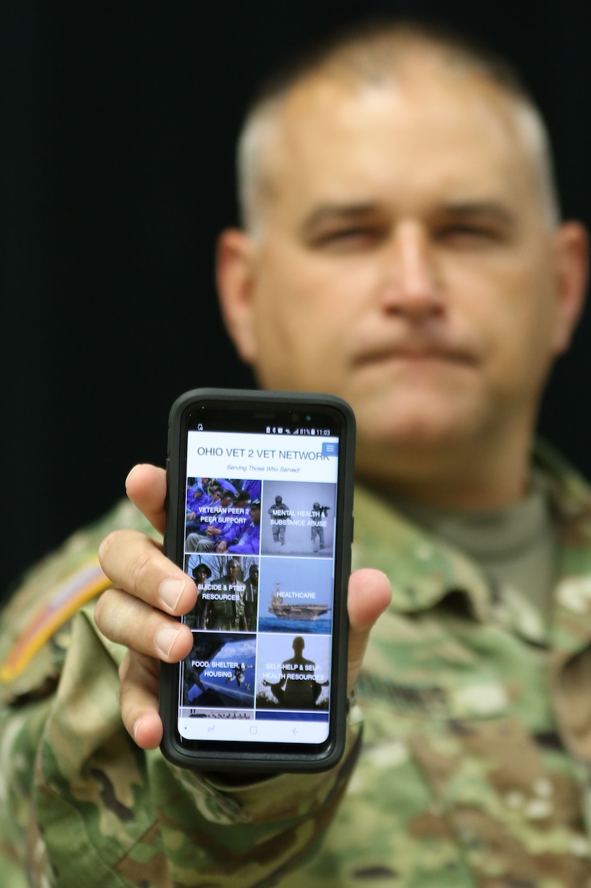 Ohio Army National Guard Capt. Michael Barnes has created the Ohio Vet 2 Vet Network, a website and mobile app with information and resources for military veterans and their Families to combat the risk factors of suicide among veterans.