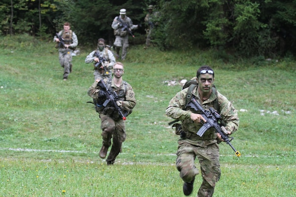 CONG Soldiers train along side Slovenian partners