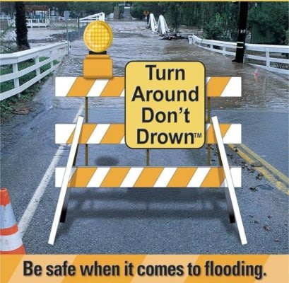 "The Texas Department of Transportation reminds motorists to ""Turn Around Don't Drown"" in hopes of educating drivers before they do something they may regret."