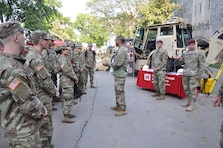 1Lt. Gregory D. Brown, project engineer, U.S. Army Corps of Engineers, New York District, shared with cadets his