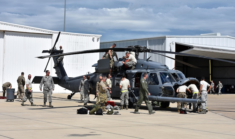 Reserve rescue Airmen assist with Hurricane Harvey relief