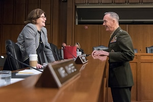 The Senate voted Sept. 27, 2017, to confirm Marine Corps Gen. Joe Dunford to another two-year term as chairman