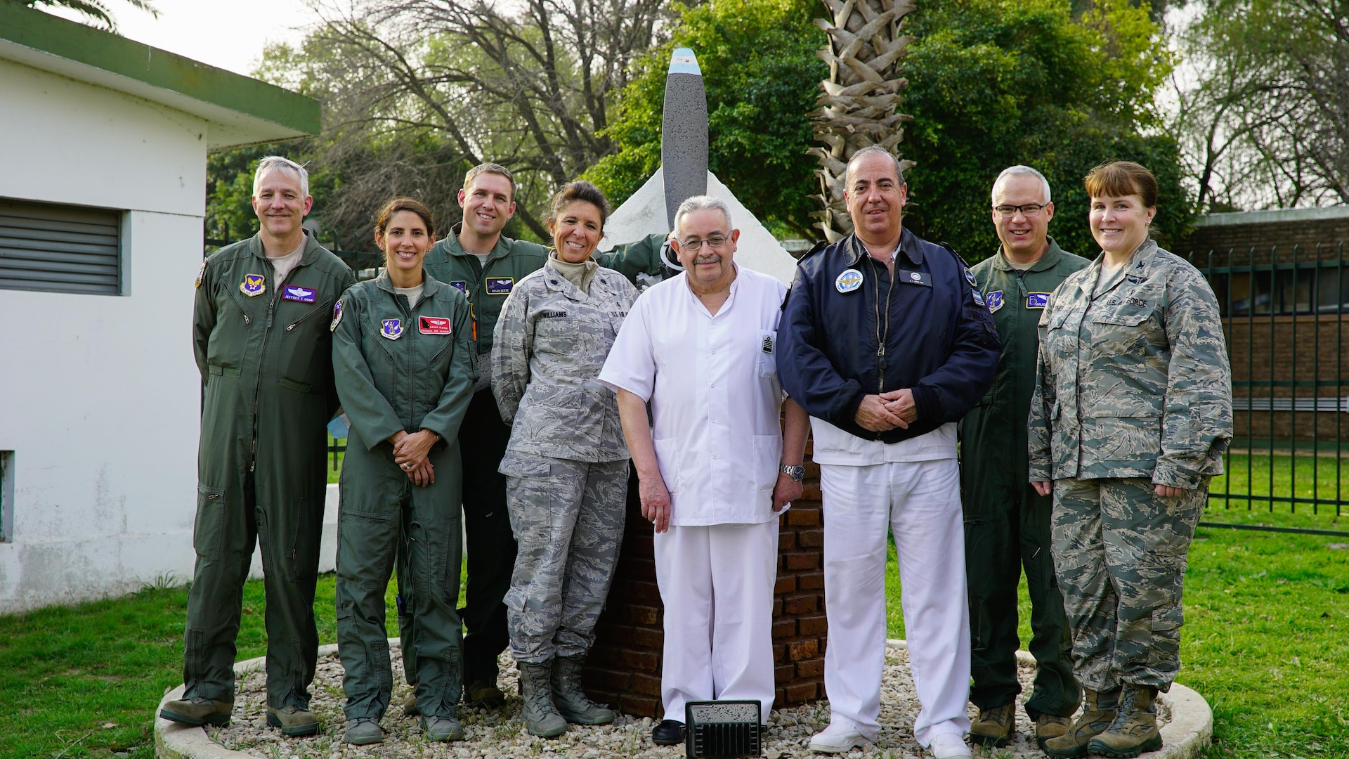 U.S. and Argentinian Air Force medical personnel conclude a senior leader engagement as part of the Department of Defense State Partnership Program Sep. 20 at the National Institute of Aeronautical and Space Medicine, Argentina.