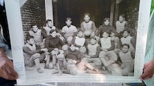A photo of the Carlisle Indian Industrial School football team in 1898.