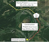 Corps Project on Highway 465 to Close Road