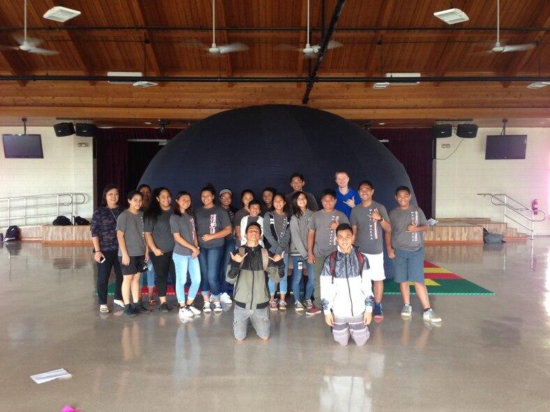 The Air Force Maui Optical and Supercomputing site STEM Outreach visit to the Maui Waena School.