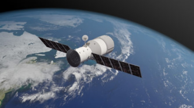 Graphic of Tiangong-1 Courtesy of Aerospace Corporation