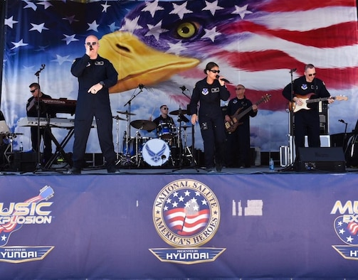 In conjunction with Air Force Recruiting, Max Impact will perform at three large air shows in the coming months.(Photo by CMSgt Robert Kamholz/released)