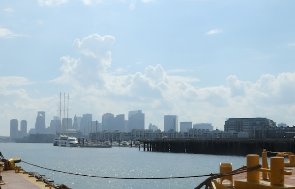 The Boston Skyline overlooking Boston Harbor.