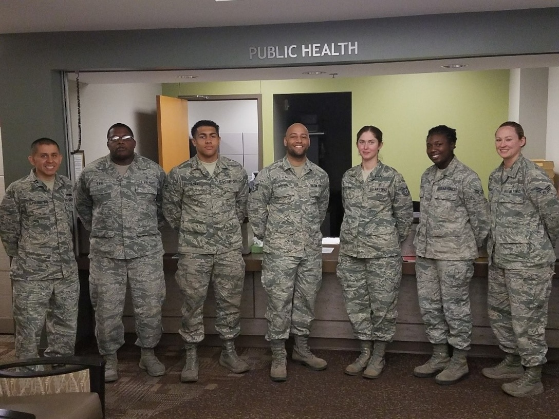 The public health team assigned to the 97th Medical Operations Squadron.