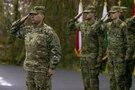 Sgt. Maj. Terry W. Preston, salutes