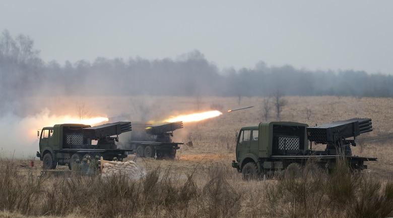 Croatian Artillery Soldiers Assigned To Volcano Battery Fire Their Vulkan M 92