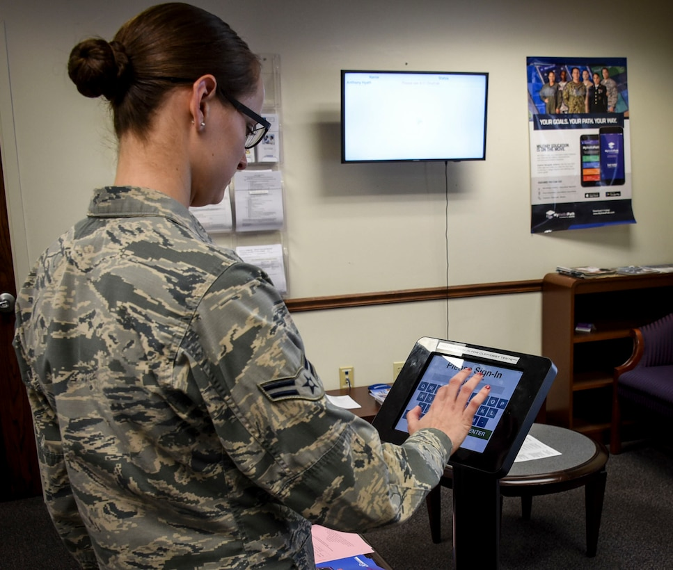 707th FSS Education Center improve customer satisfaction with new sign-in system