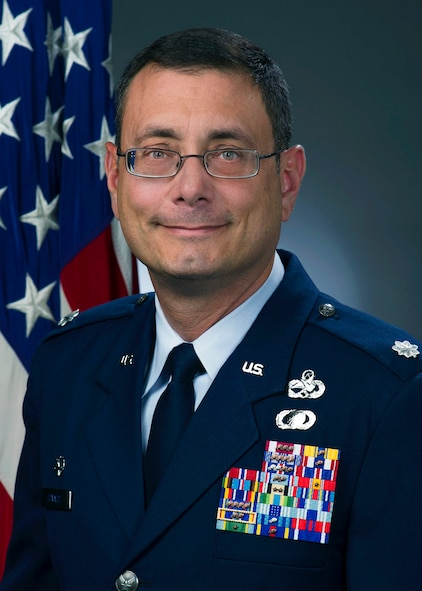 Lt. Col. Claudio Covacci, official photo, U.S. Air Force