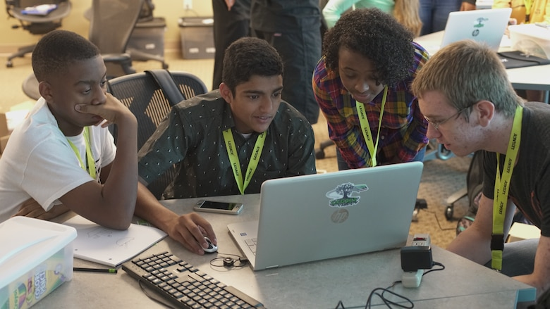 Leadership, Experience, Growing, Apprenticeships Committed to Youth participants work on a group Raspberry Pi project in the summer of 2017. The LEGACY program is expanding from Wright-Patterson Air Force Base to include Eglin and Robins Air Force Bases as well as the United States Air Force Academy. (Courtesy photo)