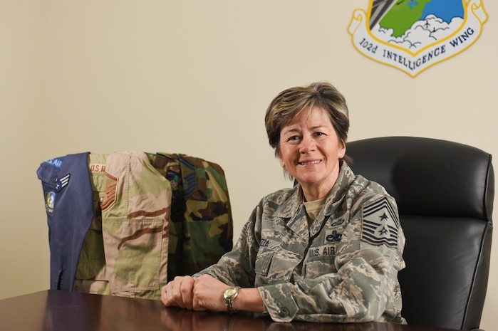 102nd Intelligence Wing Command Chief Master Sgt. Chief Master Sgt. Karen P. Cozza