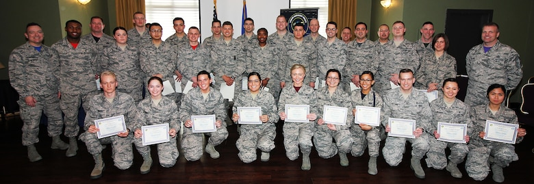 April promotees at Wright-Patterson Air Force Base, Ohio