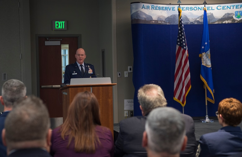 The Buckley AFB Honorary Commander Program's purpose is to identify common interests between civilian and military life, and aims to support community efforts and to work together to solve mutual problems. (U.S. Air Force photo by Airman 1st Class Holden S. Faul)