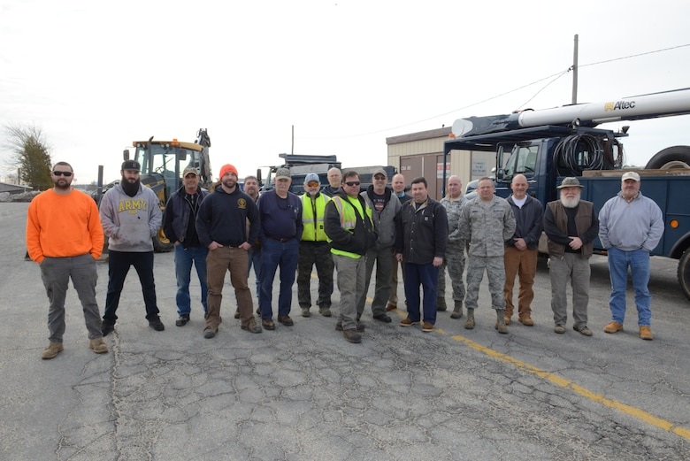 The 102nd Civil Engineers after the winter storms of March 2018 at Otis Air National Guard Base, Mass.