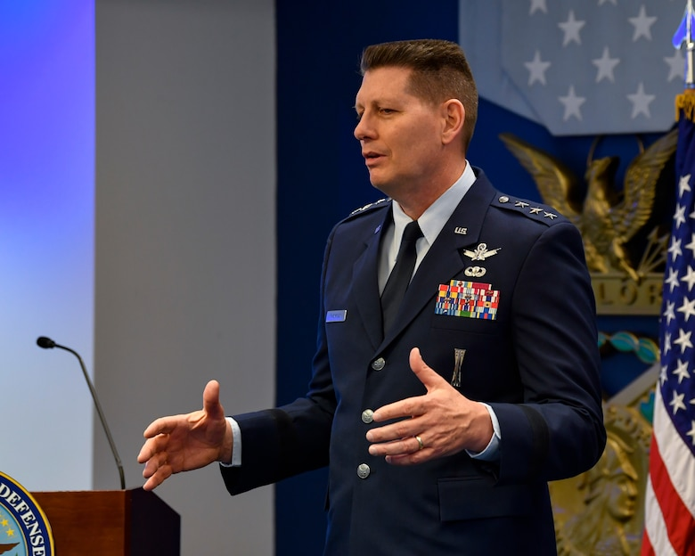 Air Force Space Command Vice Commander Lt. Gen. David D. Thompson