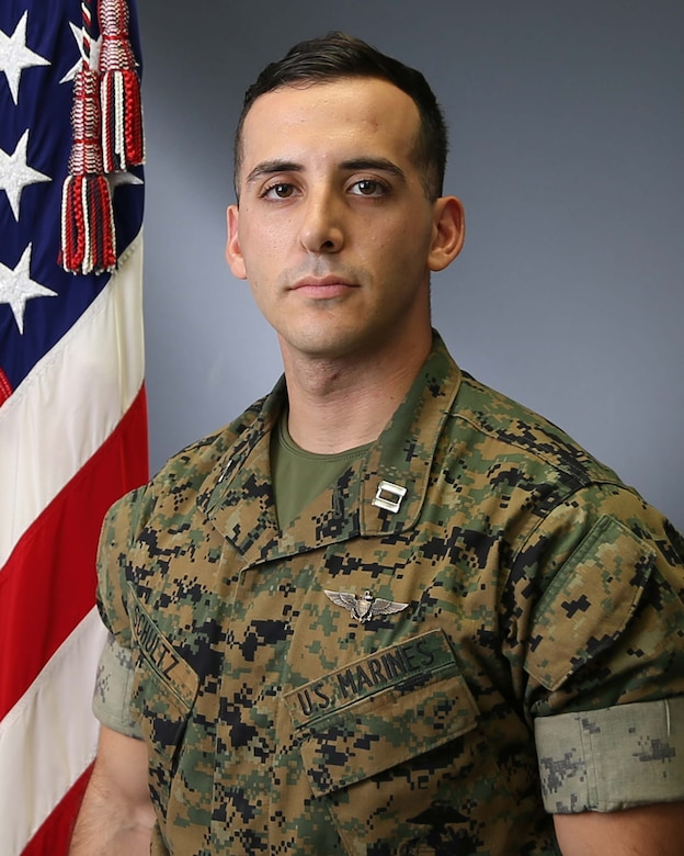 Capt. Samuel A. Schultz, 28, of Huntington Valley, Pennsylvania, was a pilot assigned to HMH-465. He joined the Marine Corps in May 2012.