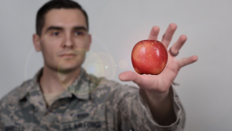 A simple message to keep in mind when it comes to nutrition is to choose foods that are in their least-processed form, such as vegetables, nuts, fruits and seeds. These types of foods are considered to be key for the foundation of a healthy lifestyle. (U.S. Air Force photo illustration/Senior Airman Nick J. Daniello)