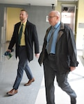 Chris Boeding walks with DLA Energy Deputy Commander Guy Beougher