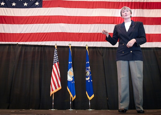 SecAF stresses Hanscom importance at town hall