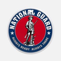 National Guard emblem.