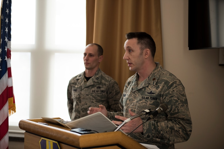 Maj. Joshua Bender assumes command of the 914th Communication Squadron