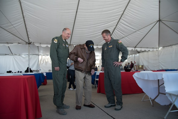 World War II Vet visits March ARB Air and Space Expo