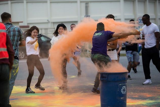 Color Run aboard Camp Foster, Okinawa, Japan