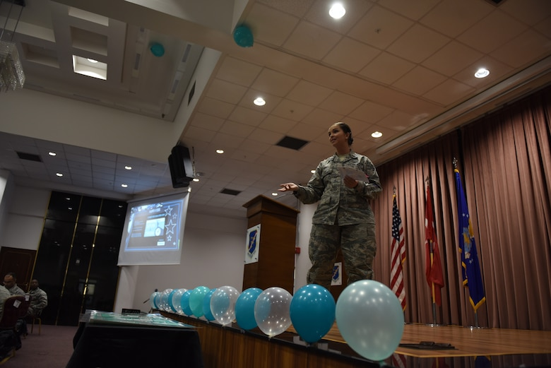 """U.S. Air Force Airmen signed a pledge to """"never leave a wingman behind"""" in honor of Sexual Assault Awareness and Prevention Month at Incirlik Air Base, Turkey, April 5, 2018.  The pledge reminded service members to be vigilant, not only during SAAPM month, but year-round. (U.S. Air Force photo by Senior Airman Kristan Campbell)"""