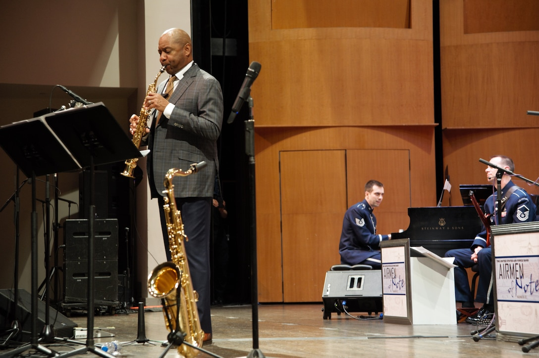 The Air Force Band's premiere jazz ensemble welcomes a jazz artist to sit in with the troupe and bring a unique concert opportunity to the public.