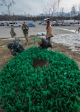 In April, the Department of Defense observes Sexual Assault Awareness and Prevention Month, offering an opportunity to continue to improve outreach and support to victims while also expanding prevention efforts. To raise awareness, members of Joint Base Elmendorf-Richardson, Alaska, created a silent display of 3,852 teal flags outside the commissary in the shape of a ribbon to represent the number of reports of sexual assault across the Army and Air Force in fiscal year 2016. For those who have experienced a sexual assault, resources are available at sapr.mil and the JBER SAPR office at 7153 Fighter Drive, JBER-E, or call 551-2020 or the SAPR/SHARP office hotline at 384-7272.