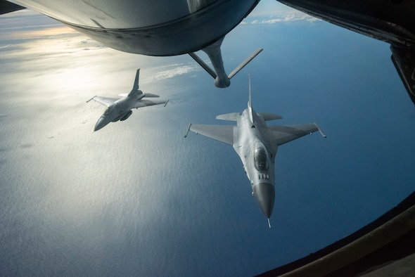 Refueling Over the Pacific