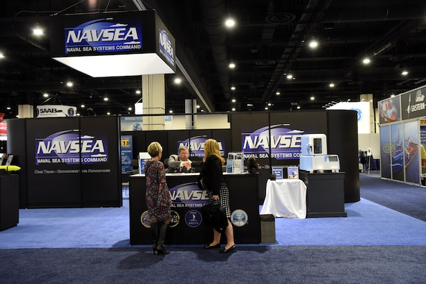 NAVSEA booth at the 2018 Sea-Air-Space Exposition