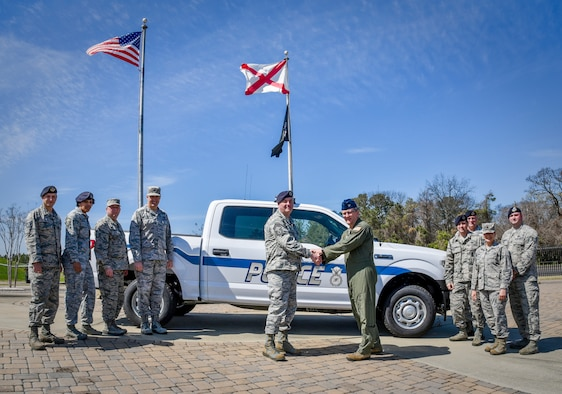 117 ARW Security Forces Squadron Receives New Vehicle