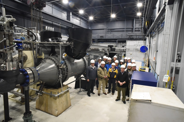 Chief engineers with the Air Force Research Laboratory tour von Kármán Gas Dynamics Facility Tunnel D during their annual Systems Engineering Program Management (SEPM) meeting. The SEPM was held at Arnold AFB for the first time ever in early March.