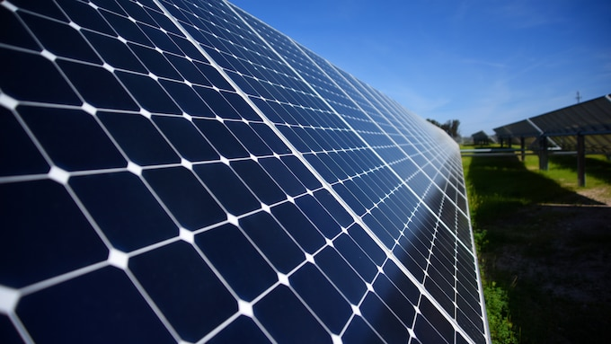 Photo of solar array