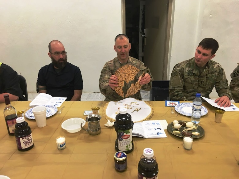Army Reserve chaplain leads Passover in Afghanistan